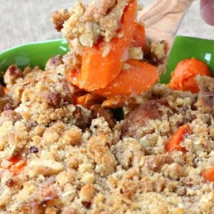 Buttered Carrots with Streusel Topping