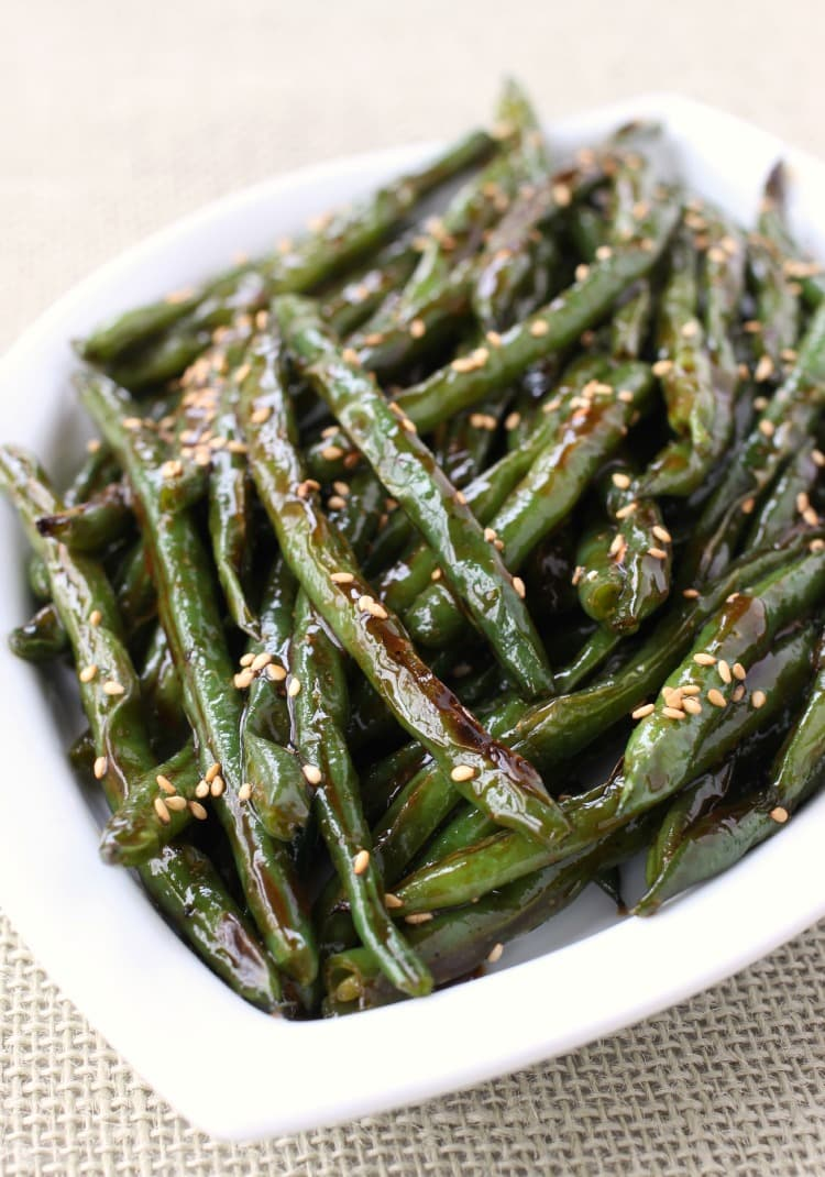 Roasted Asian Green Beans Recipe Best Green Bean Side Dish Recipe