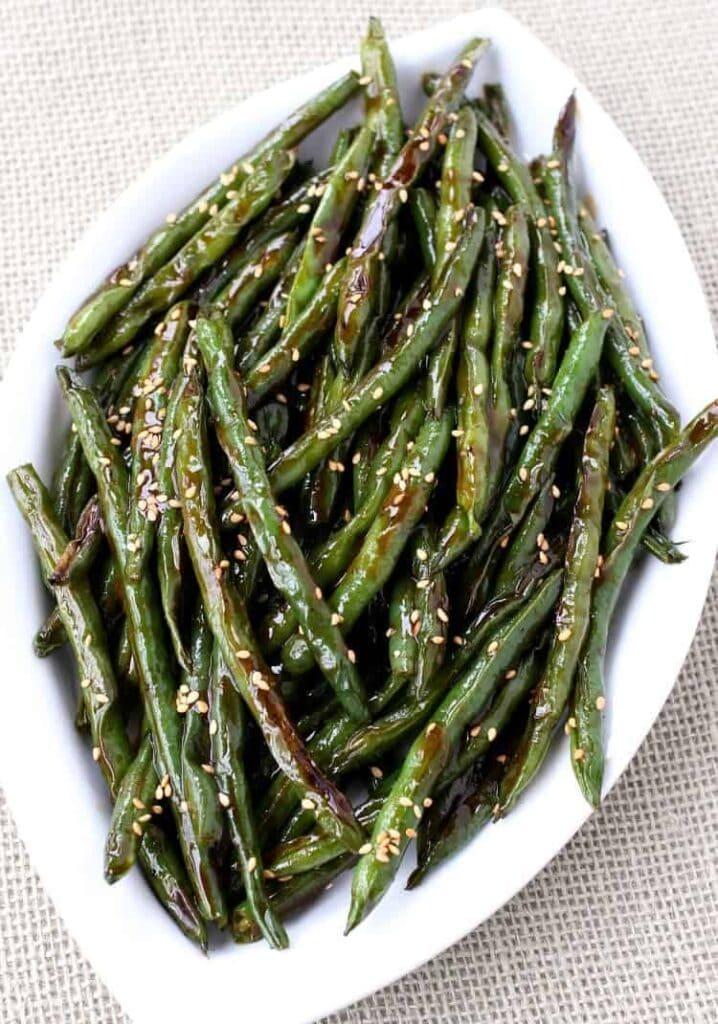 Roasted Asian Green Beans Recipe Best Green Bean Side Dish Recipe