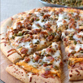 Spicy Sausage and Pumpkin Pizza