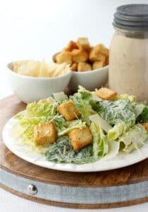 Homemade Creamy Caesar Salad Dressing, is a dressing recipe for salad