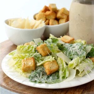 Homemade Creamy Caesar Salad Dressing, is a dressing recipe for salad