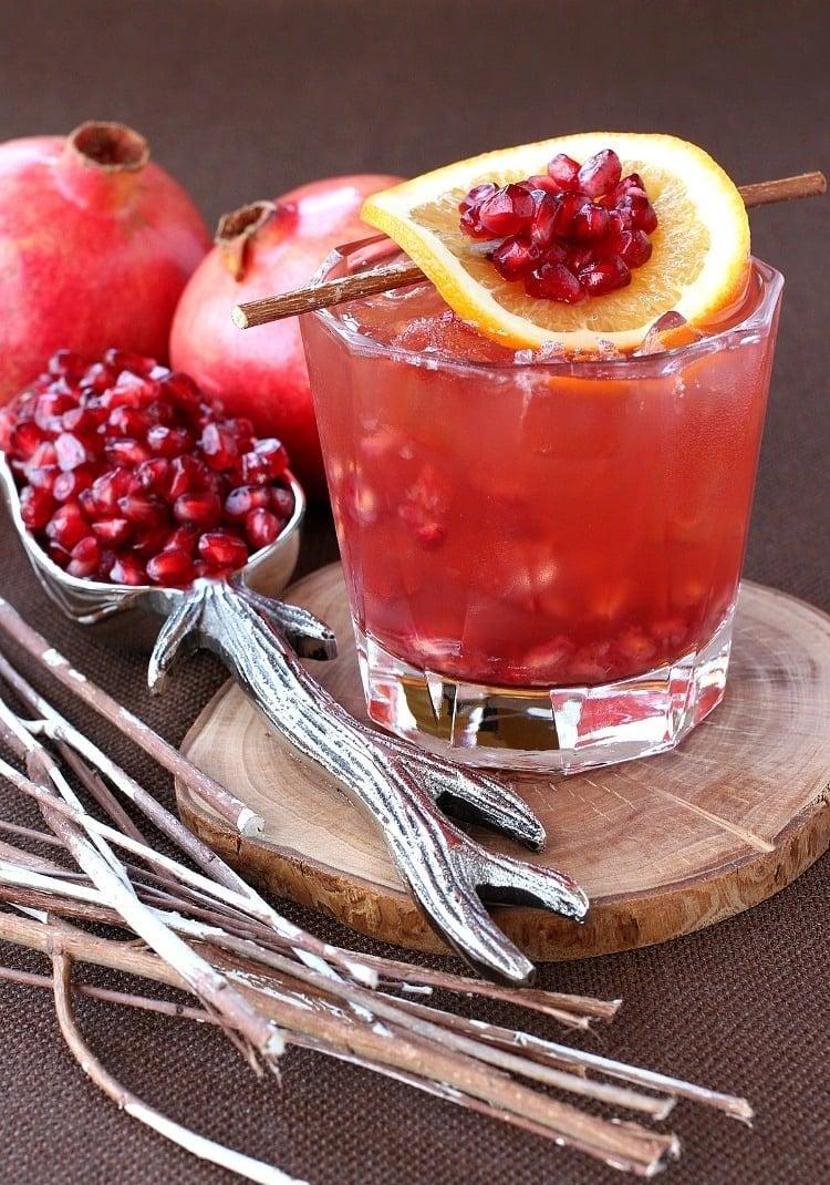 Pomegranate Old Fashioned cocktail recipe