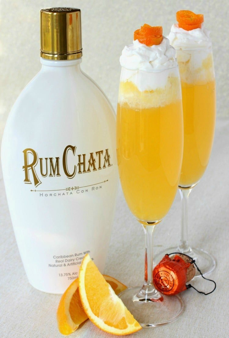 Rumchata creamsicle champagne mantitlement for Best soda with rum