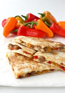 Sausage and Pepper Quesadillas