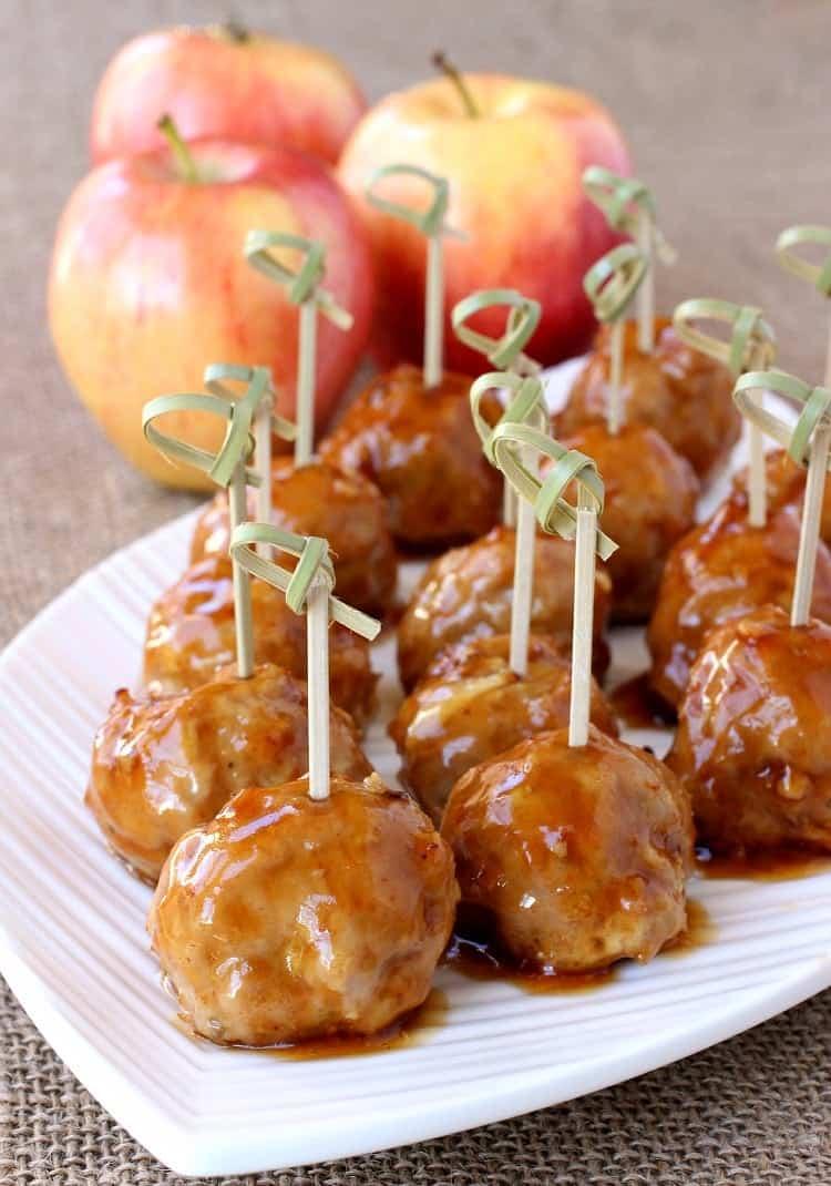 turkey-apple-meatballs-whiskey-glaze