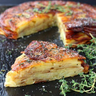 Brown Butter and Thyme Potato Torte