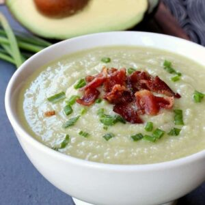 Creamy Potato and Avocado Soup | Leftover Mashed Potato Soup Recipe