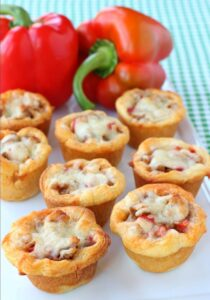 Sausage and Pepper Crescent Cups
