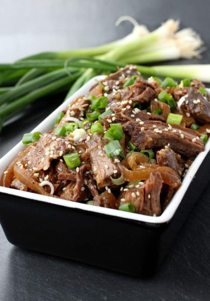 Slow Cooker Shaking Beef is a steak recipe that is made in a crock pot