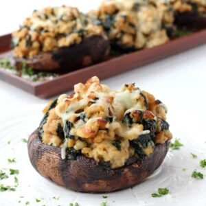 Chicken Marsala Portobello Mushrooms