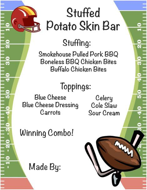 Stuffed Potato Skin Bar