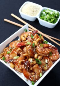 Easy Stir-Fry Shrimp and Cashews