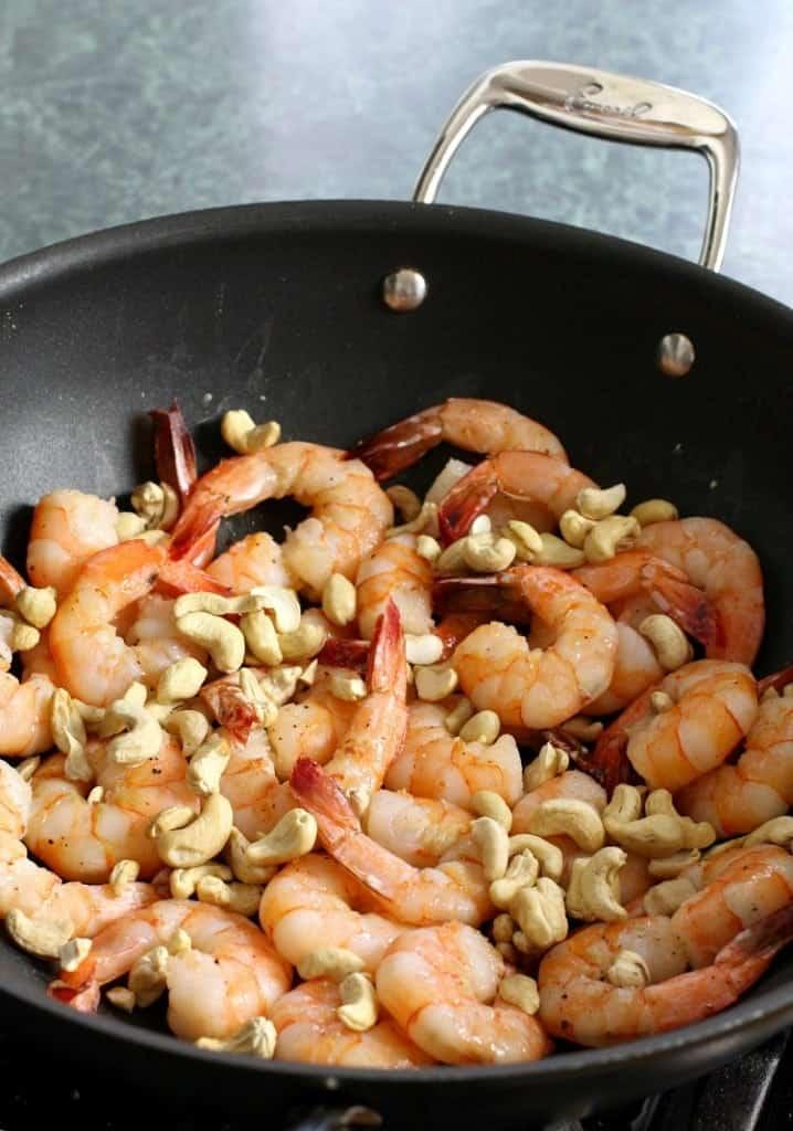 Easy Stir Fry Shrimp and Cashews is a stir fry recipe made with shrimp and cashews