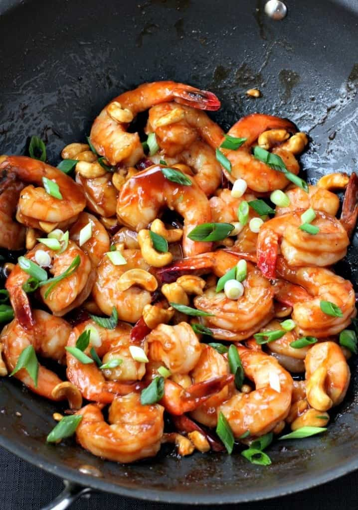 Easy Stir Fry Shrimp and Cashews is a healthy dinner recipe that's ready in 15 minutes
