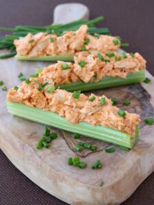 Buffalo Chicken Celery Sticks are perfect for appetizers!