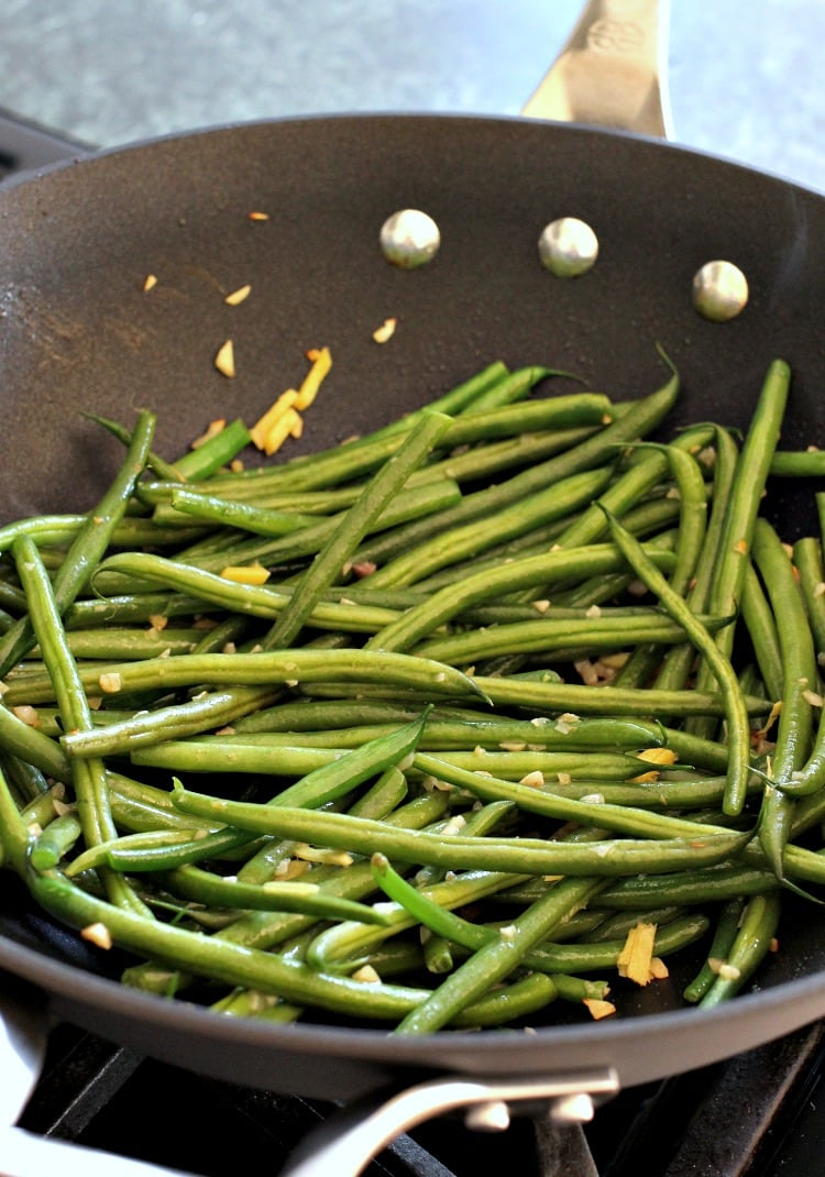 Ginger Beef and Green Bean Stir Fry is a stir fry recipe with steamed green beans