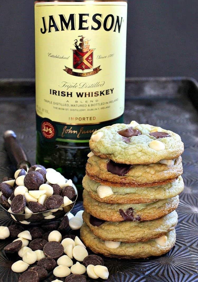 Jameson Mint Chocolate Chip Cookies - Mantitlement