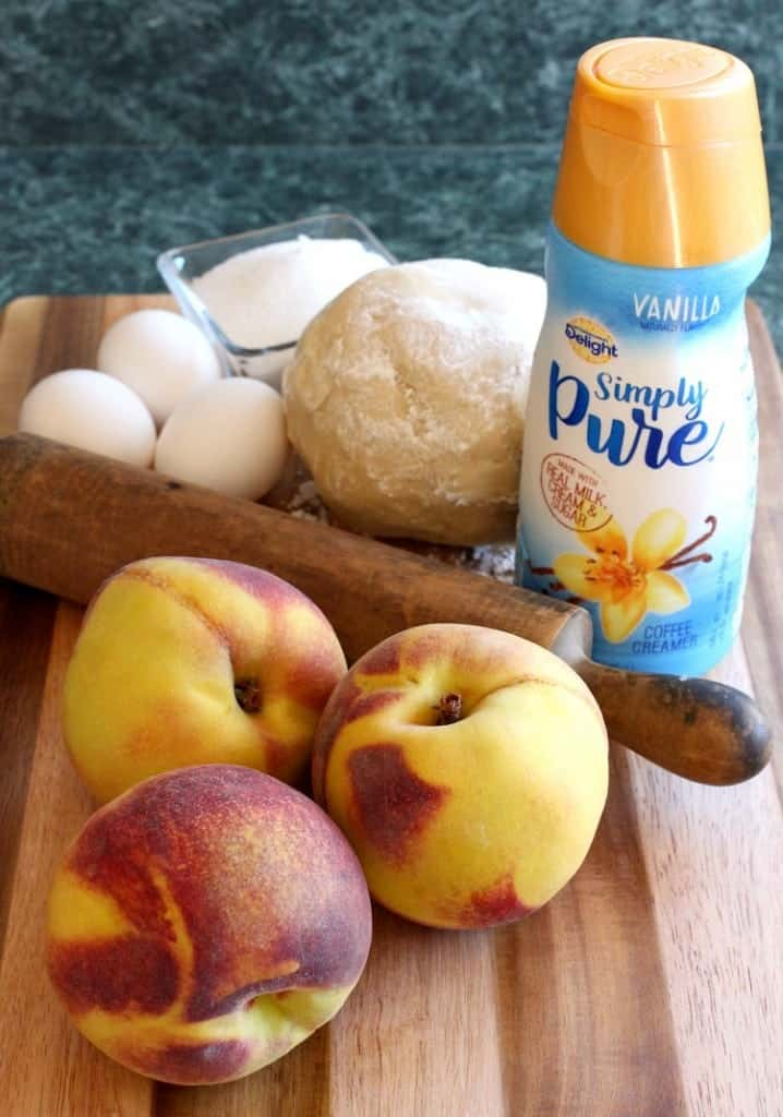 peach-custard-tart-ingredients