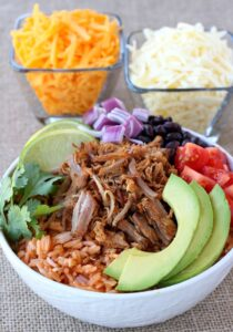 Shredded Pork Taco Bowl