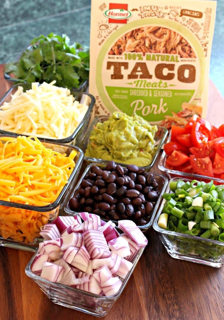 shredded-pork-taco-bowl-ingredients