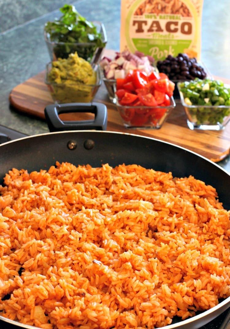 shredded-pork-taco-bowl-rice