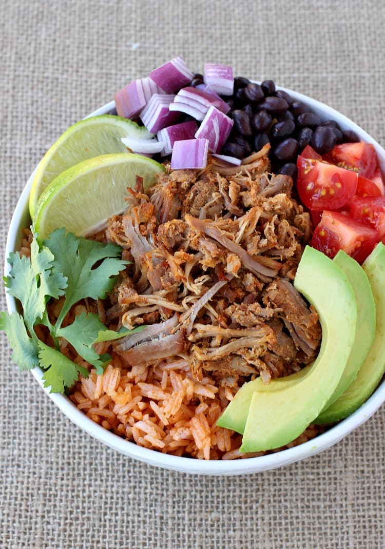 shredded-pork-taco-bowl-top