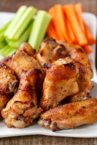 Baked Chicken Wings recipe are crispy on the outside and juicy on the inside