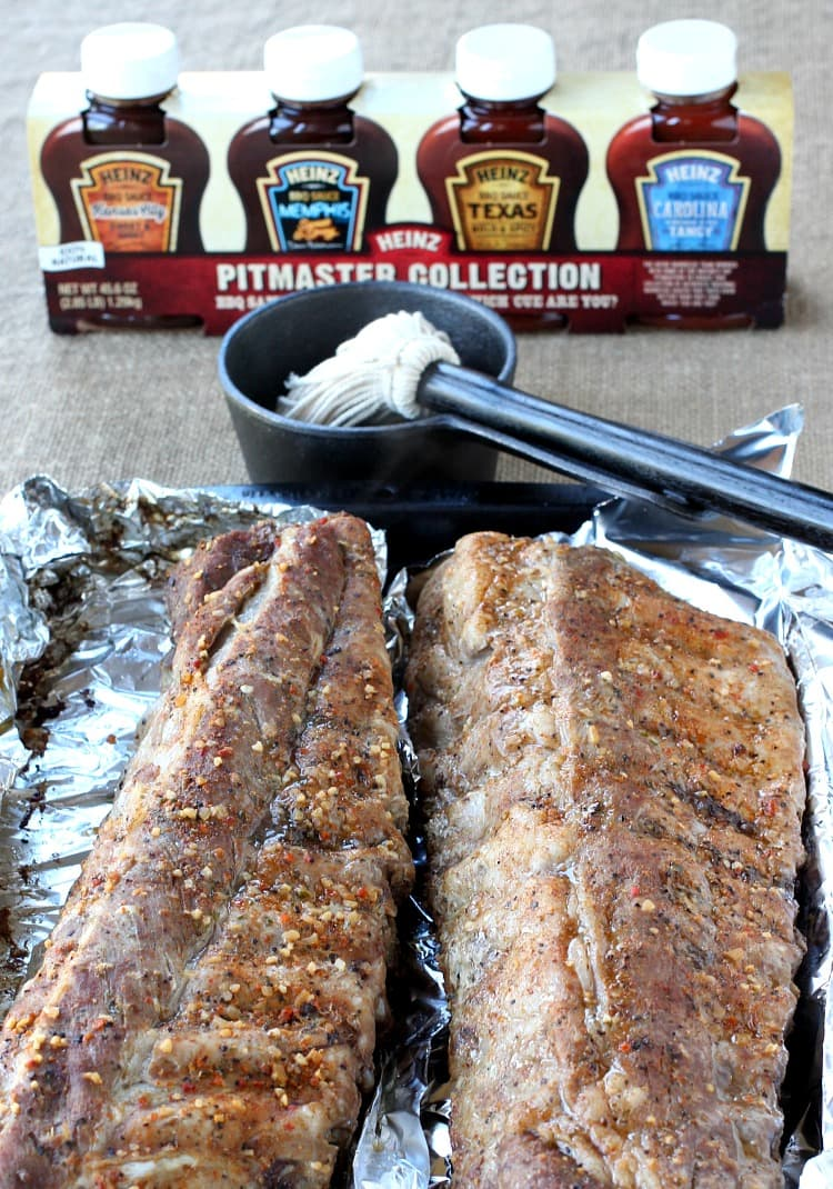Easy BBQ Ribs are a rib recipe that starts in the oven and finishes on the grill
