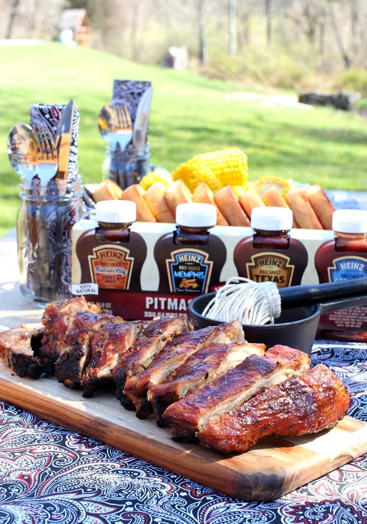 Easy BBQ Ribs are a tender rib recipe that can be made ahead of time