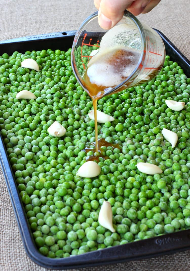 Roasted Frozen Peas Recipe