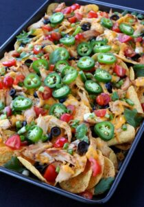 Chicken Sheet Pan Nachos