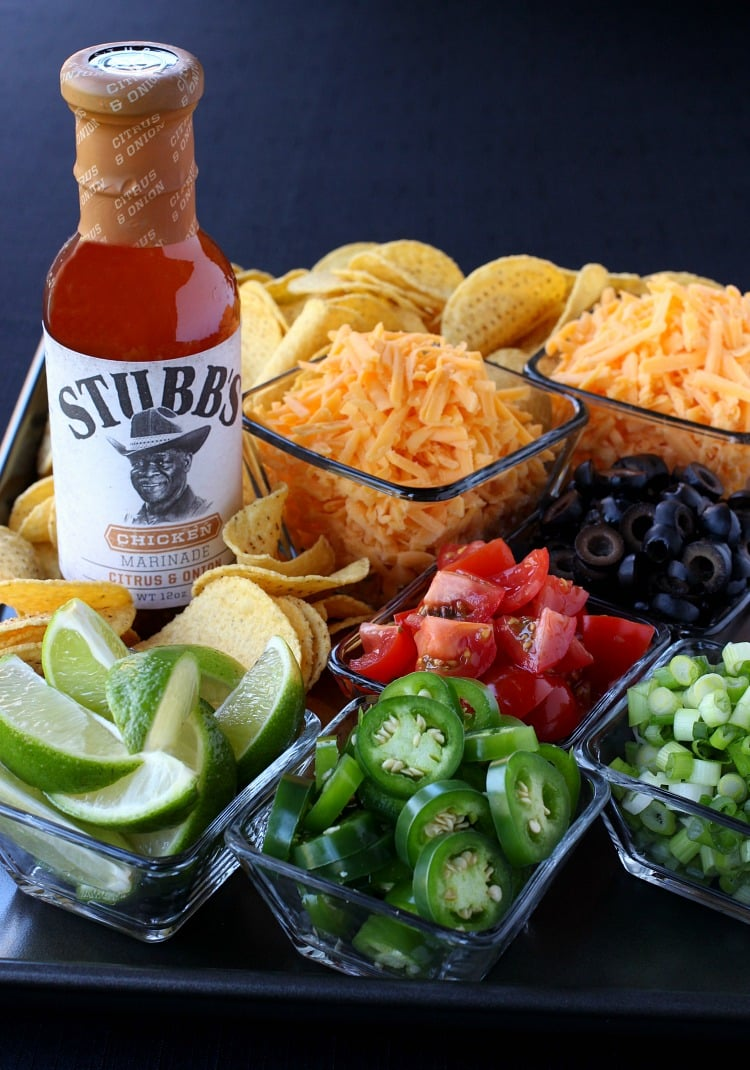 toppings for oven baked chicken nachos
