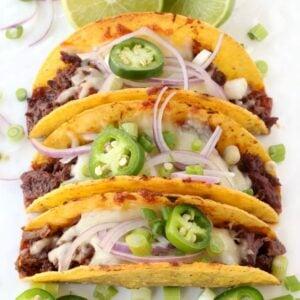 Oven Baked Korean Beef Tacos