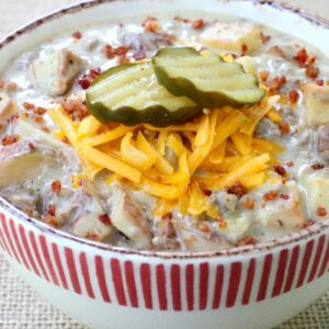 Cheeseburger and Fries Chowder