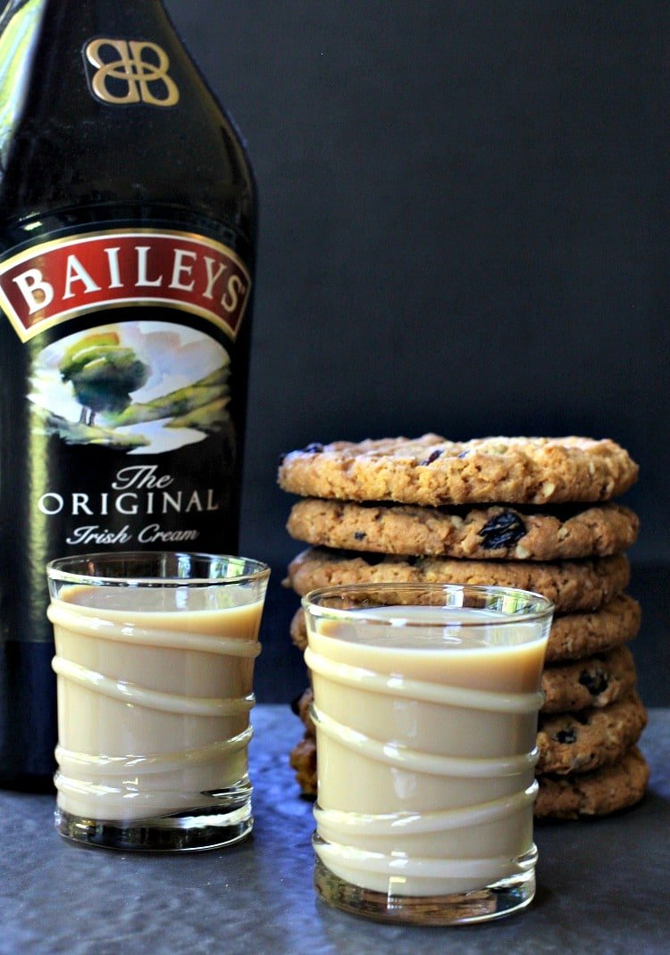 Oatmeal Cookie Shots are a boozy, sweet dessert shot