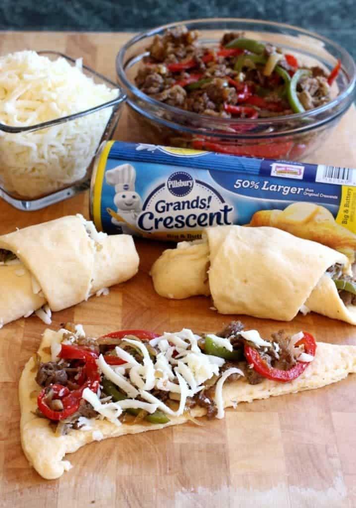 philly-cheesesteak-crescent-rolls-board