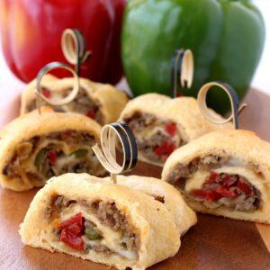 philly cheesesteak crescent rolls