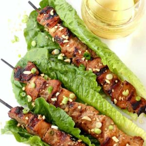Thai Coconut Pork Kabobs