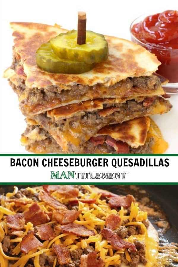 Bacon Cheeseburger Quesadillas are a fun, easy dinner recipe