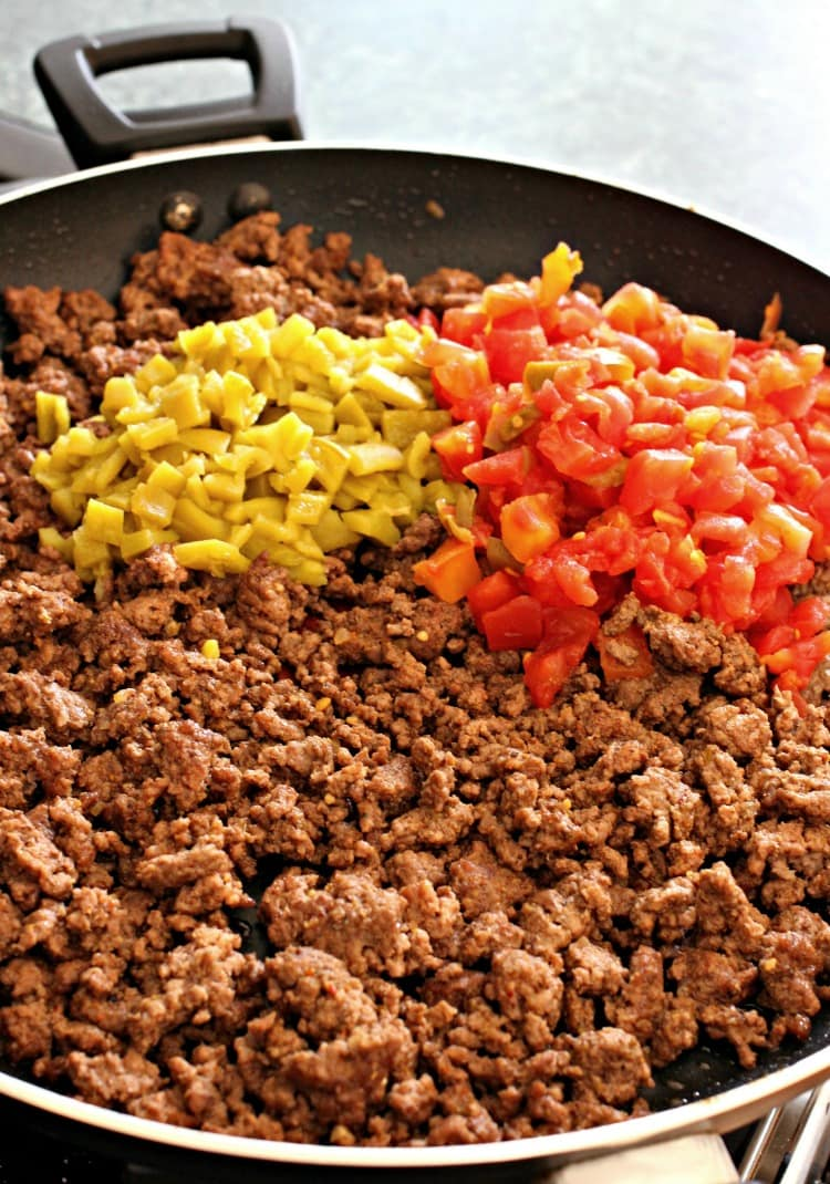 Pan Fried Beef Tacos Filling