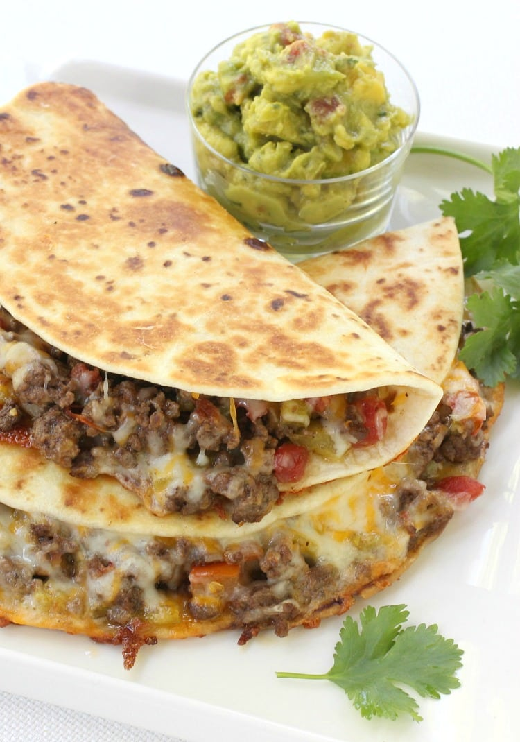 Pan Fried Beef Tacos are a fried taco recipe with beef and cheese