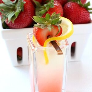 Spiked Strawberry Lemonade Shots