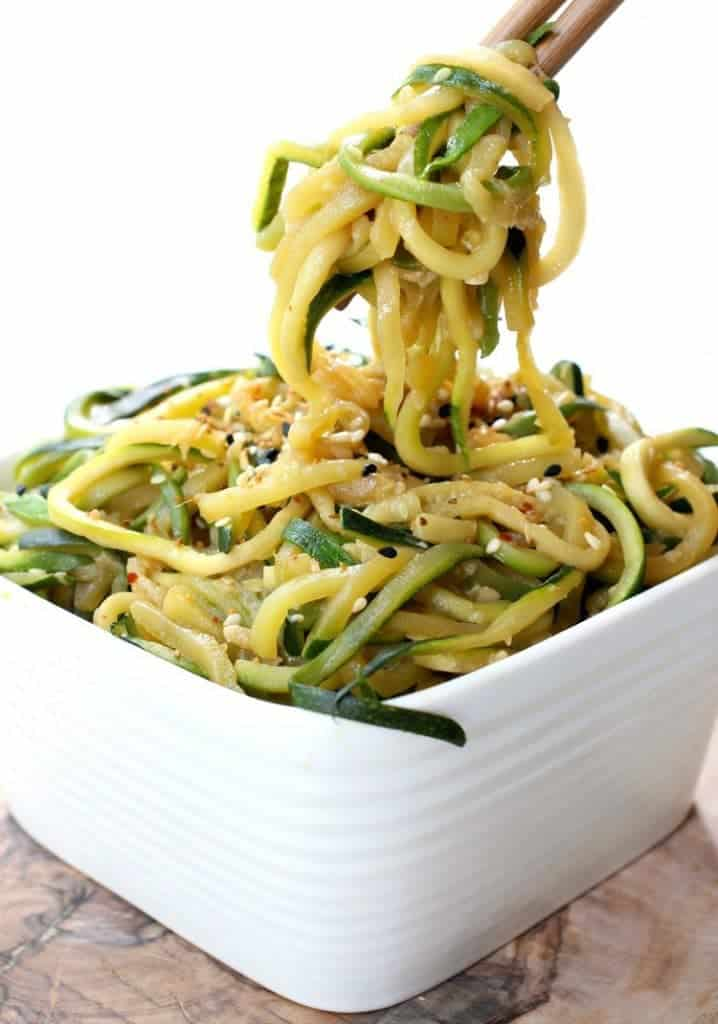 Asian Zucchini Noodles are a healthy and delicious side dish!