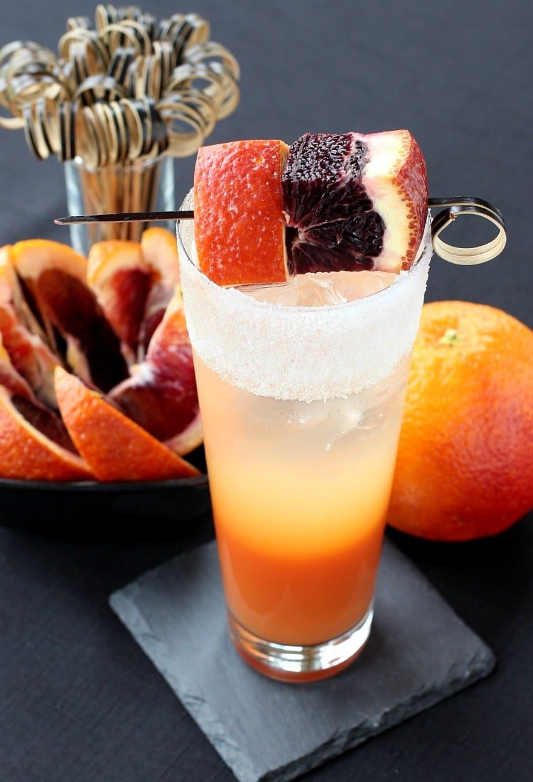 Blood Orange Gin Cooler for a flavorful cocktail all year round!
