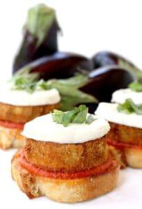 Eggplant Parmesan Toasts