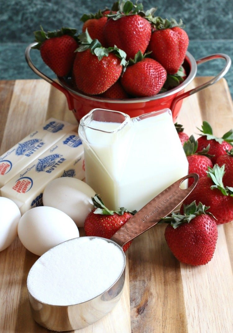 strawberry-rum-pound-cake-ingredients