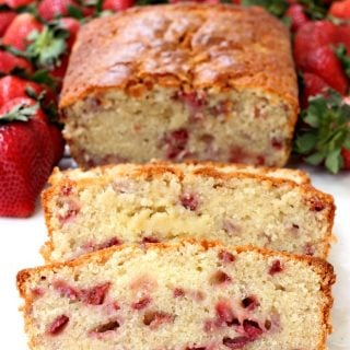 Strawberry Rum Pound Cake