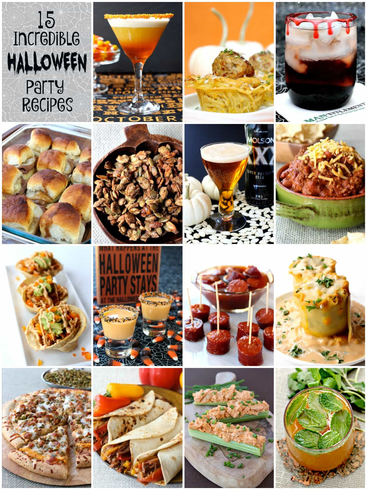this 15 incredible halloween party recipe collection is all you need - Halloween Party Recipies