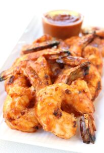 Grilled Shrimp Cocktail with Mango BBQ sauce